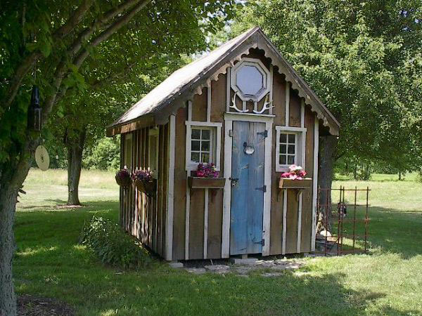 Garden Shed From Recycled Materials