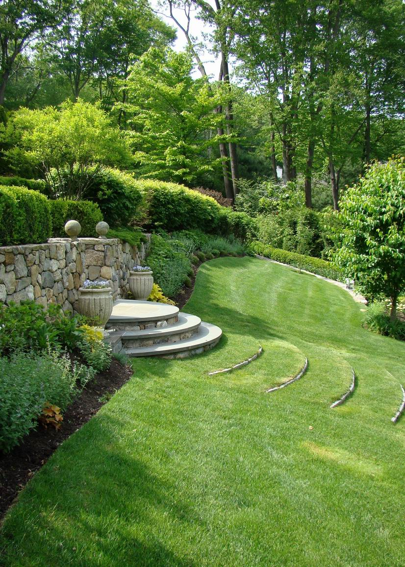 Curved Terrace Stairs Tame A Slope