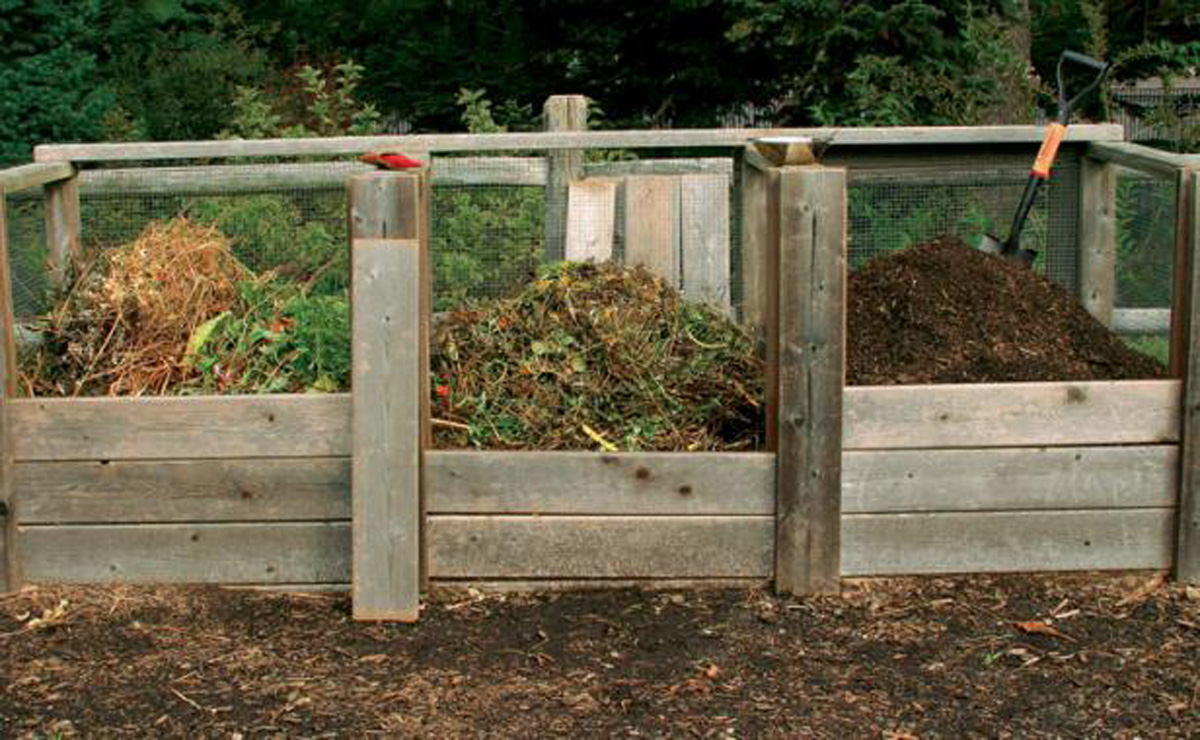 Moisten your compost to help aid decomposition.