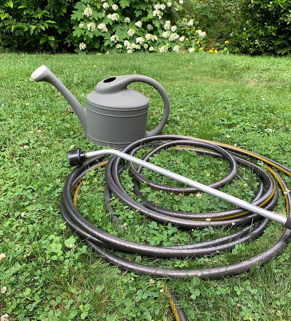 watering can and hose