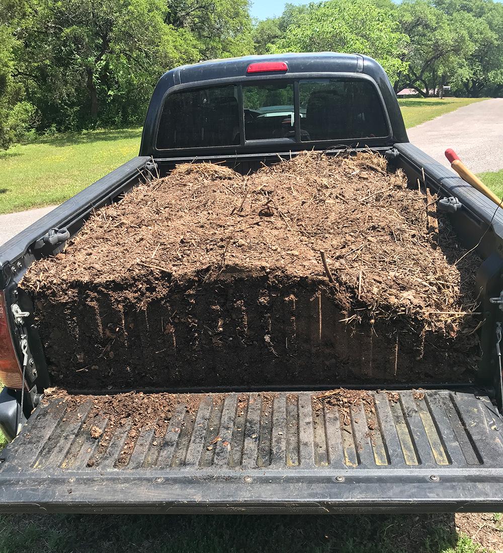 truckload of compost