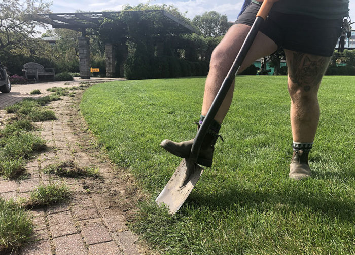 Edging sidewalks