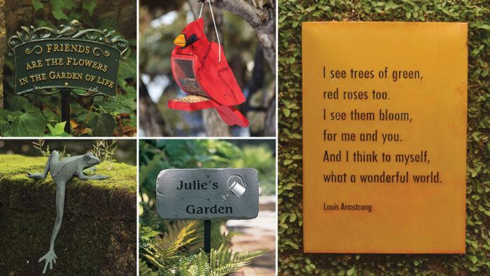Charleston Gardens garden decor