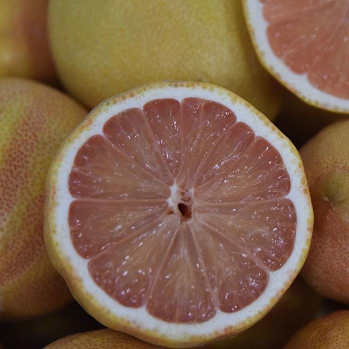 Variegated pink Eureka lemons