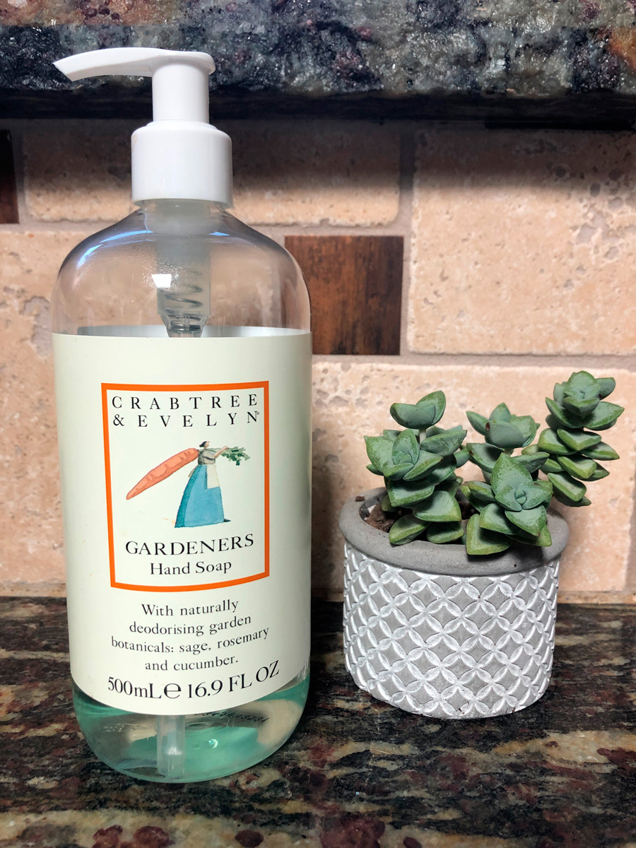 Crabtree and Evelyn gardeners hand soap