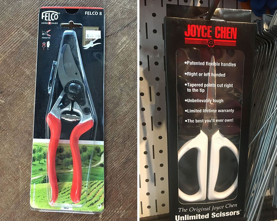 pruners and scissors