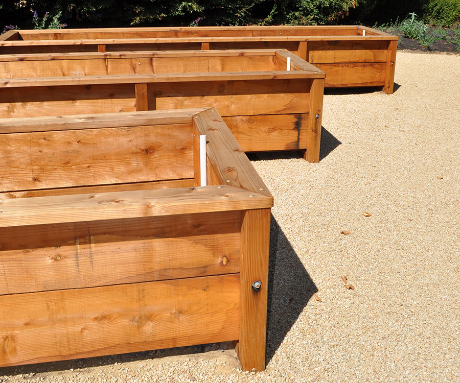 wooden raised beds