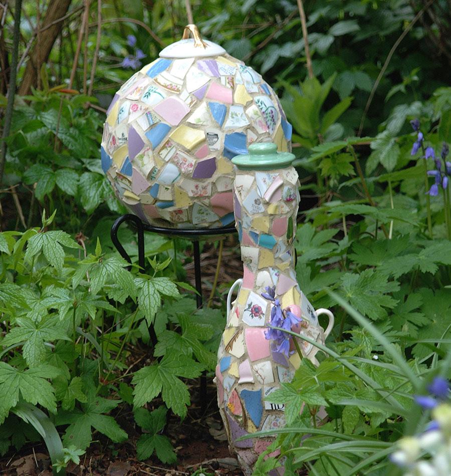 mosaic garden sculptures