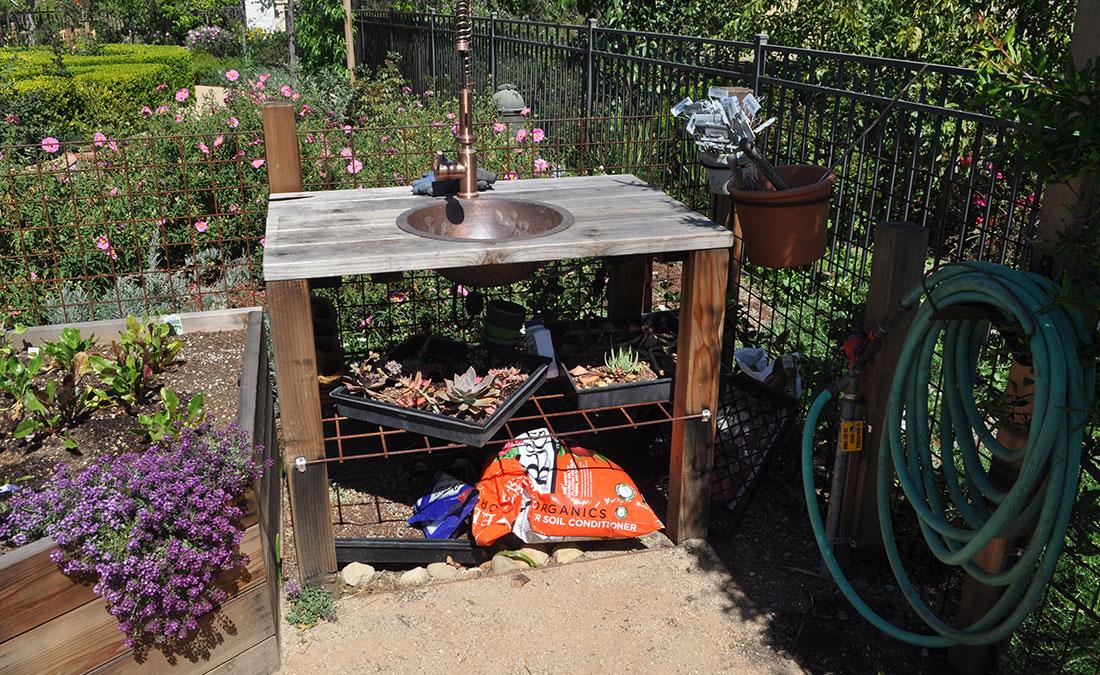 edible garden area