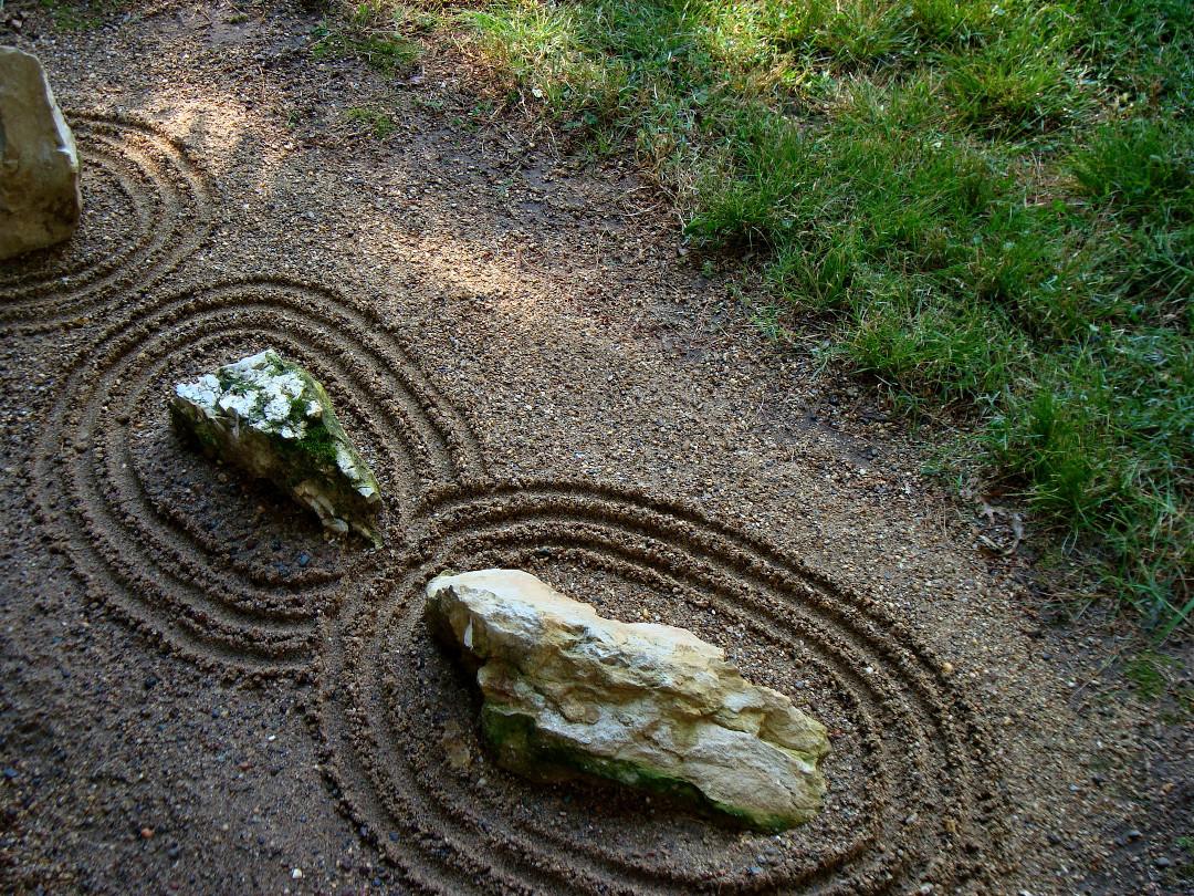 Japanese-style rock garden