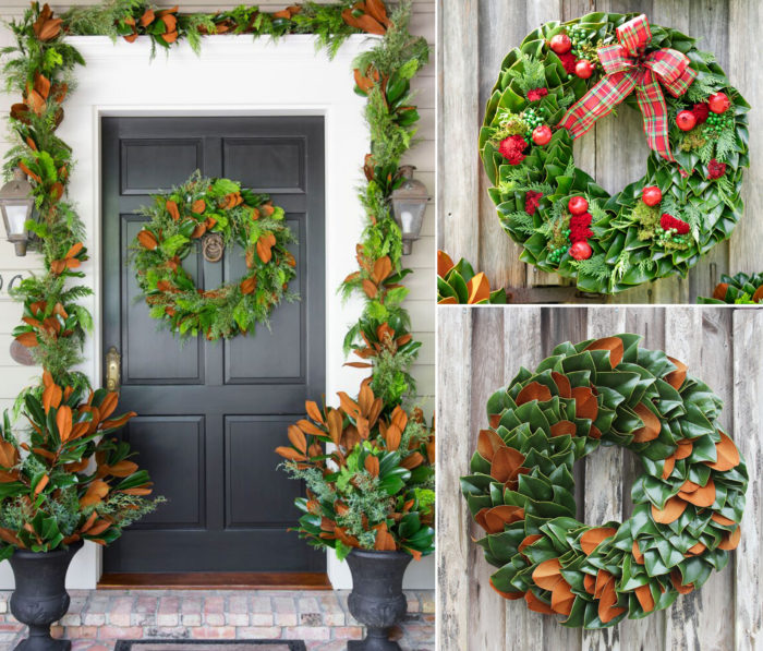collage of wreaths