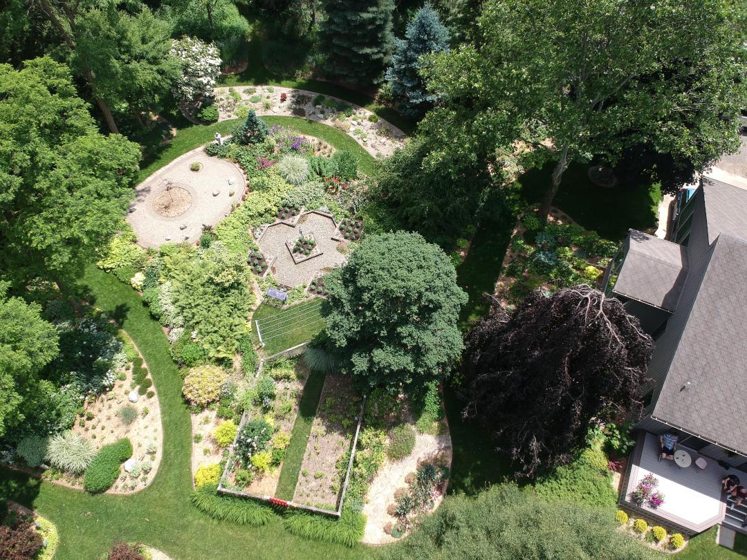 overhead garden photo