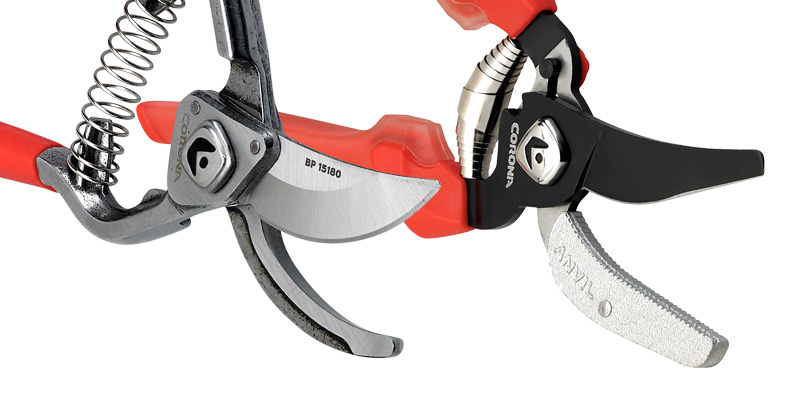 Bypass Hand Pruner and Anvil Hand Pruner