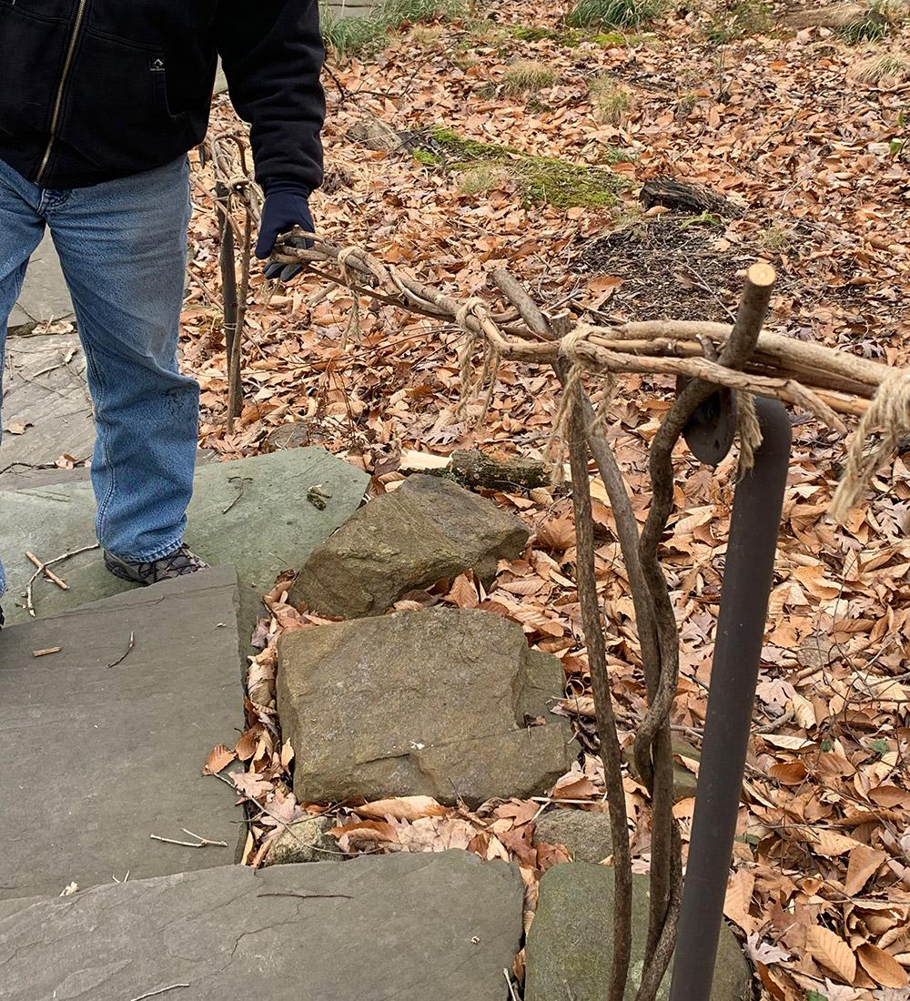 vine-inspired railing