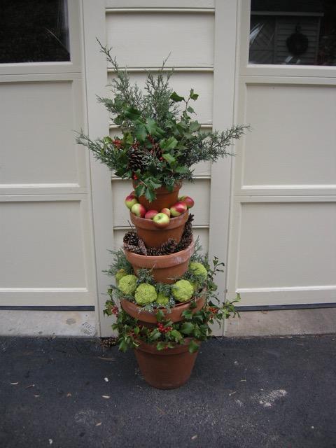winter garden container display