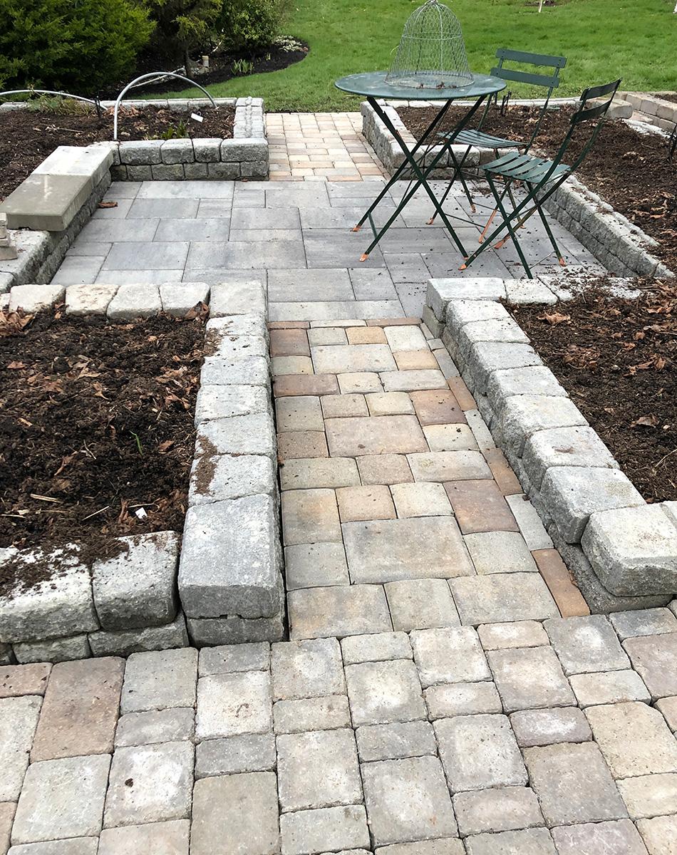 Adding pavement in the veggie garden