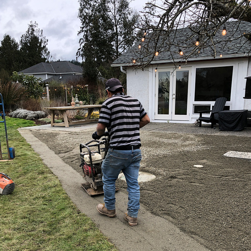 creating a gravel patio