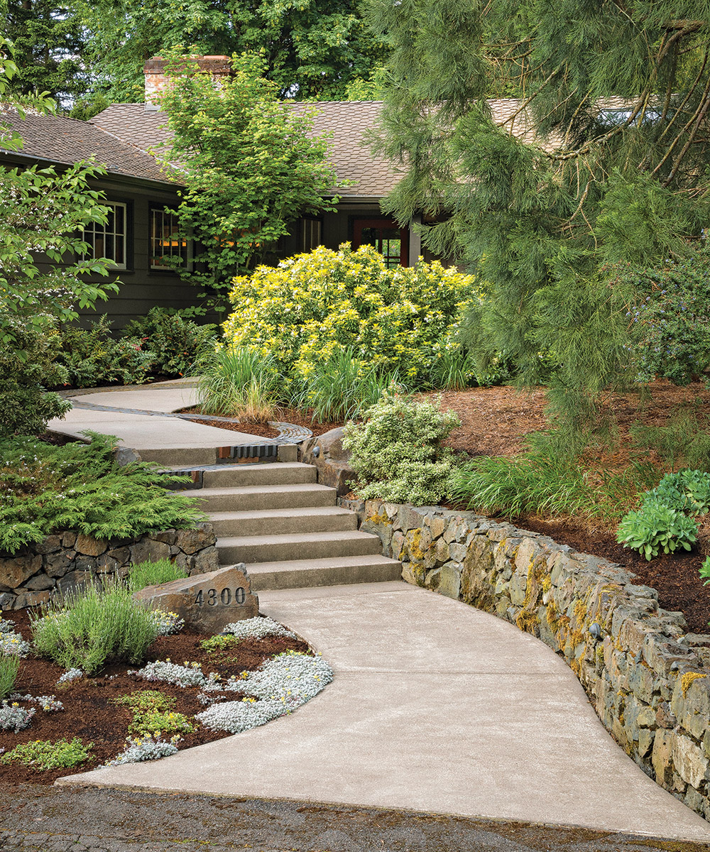 garden path with steps