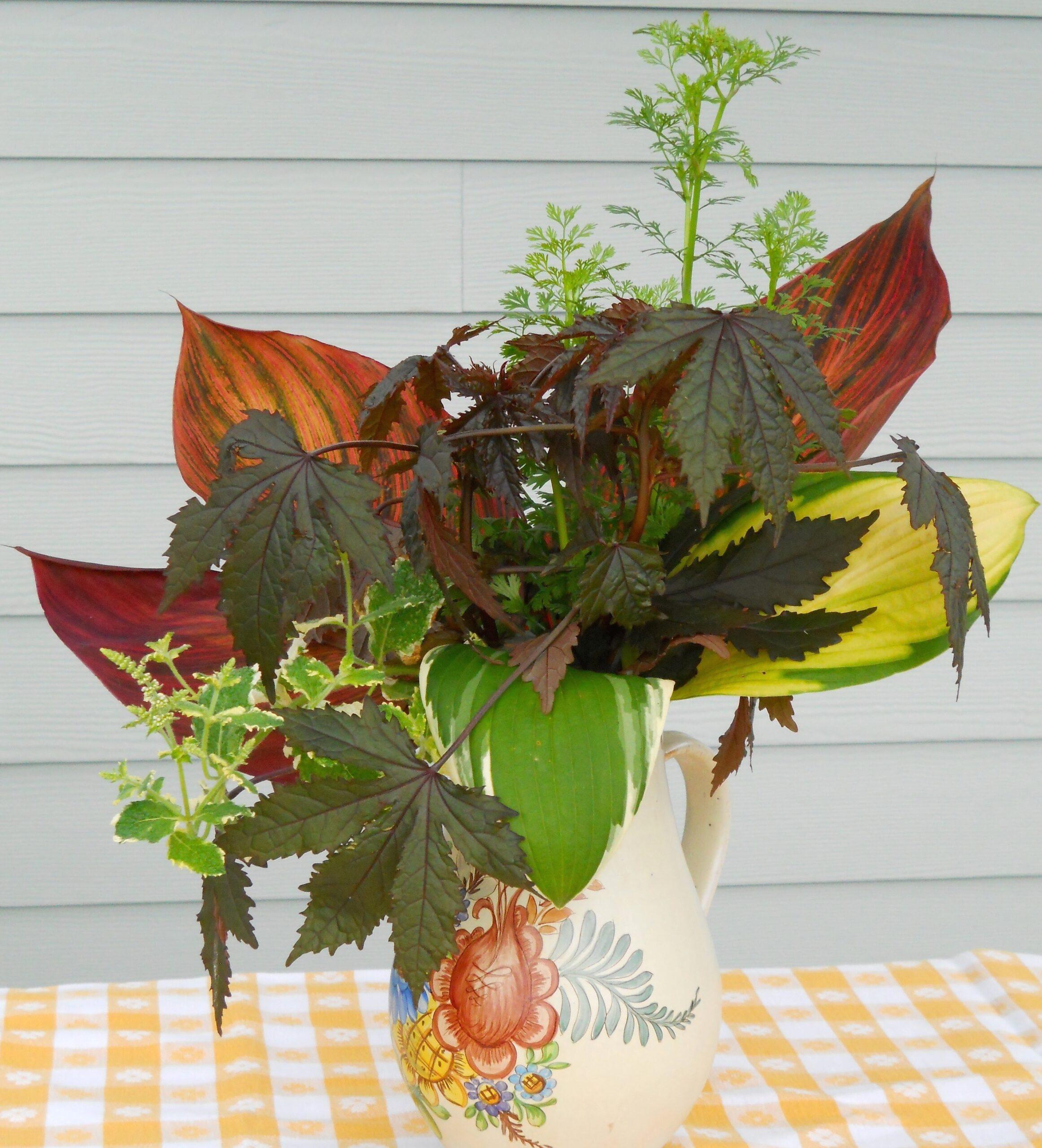 All foliage arrangement