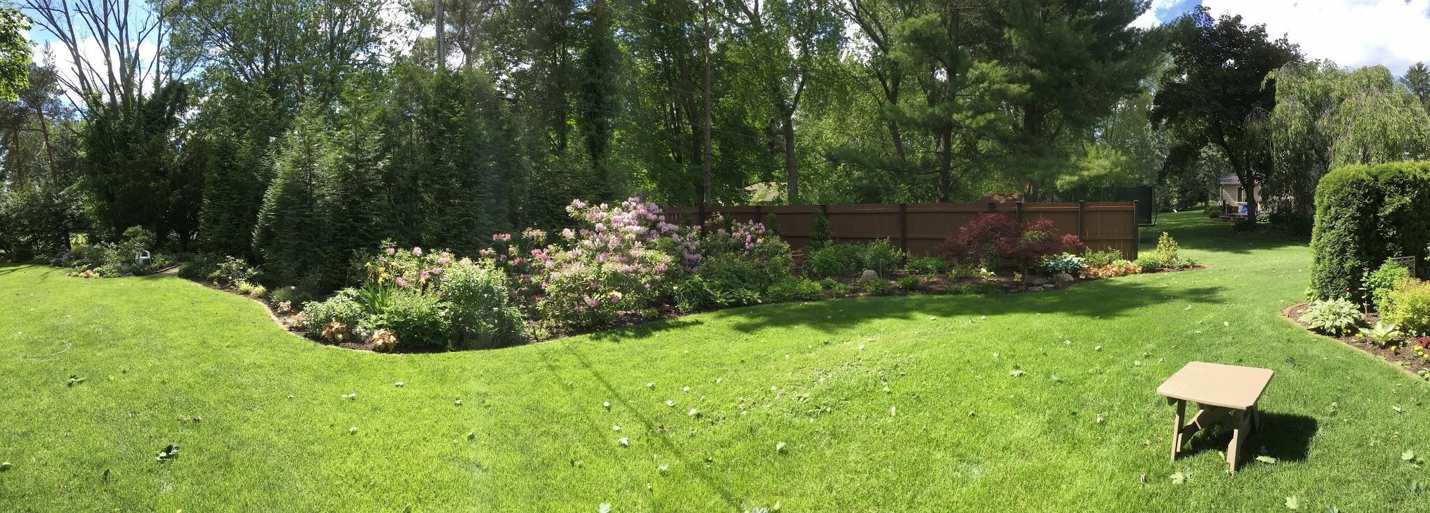 large backyard garden bed