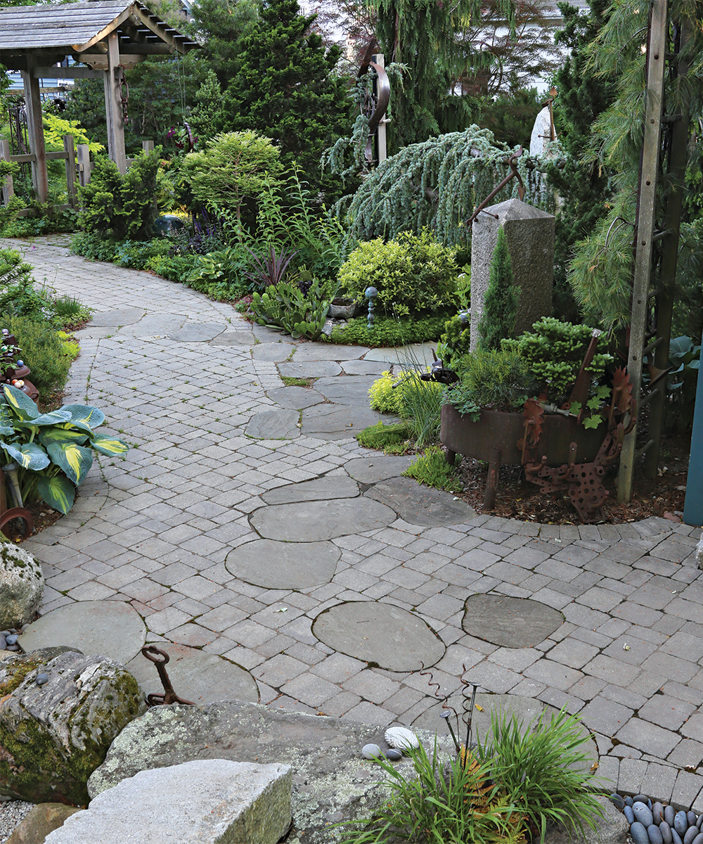 mixed stone for path