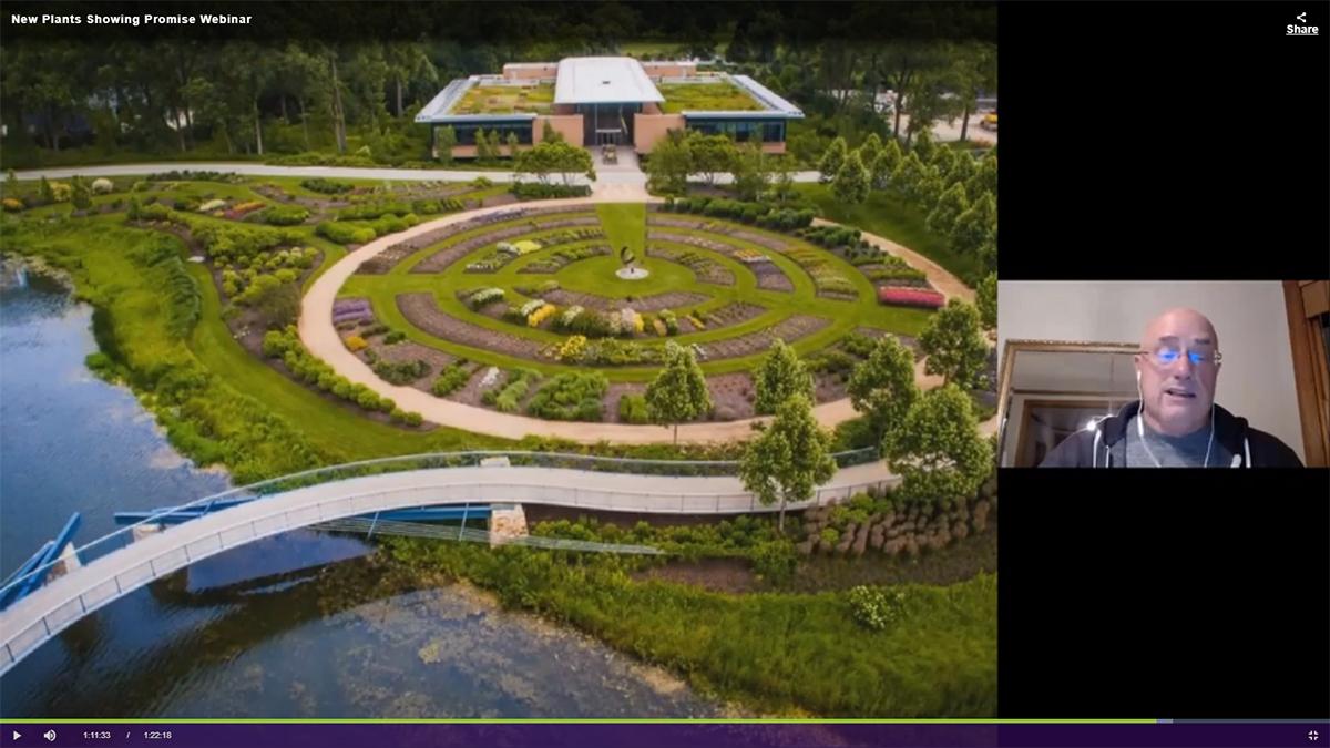 Richard Hawke showing CBG trial gardens