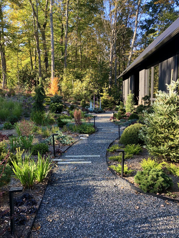 garden path leading to front door