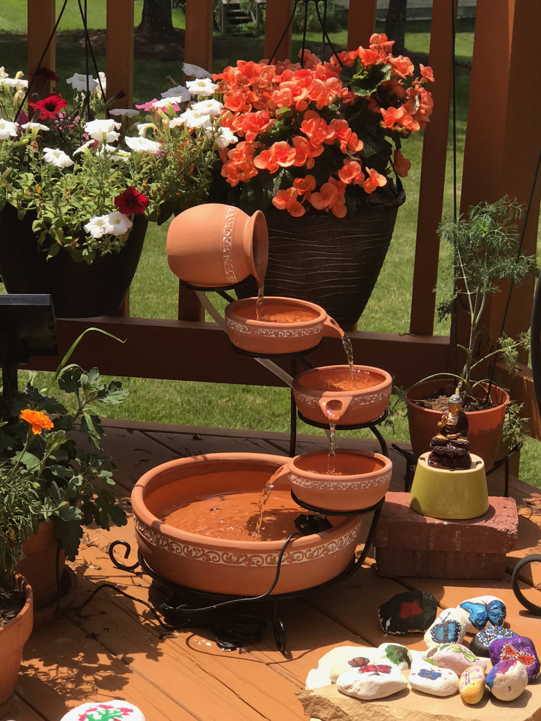 small terra cotta water feature
