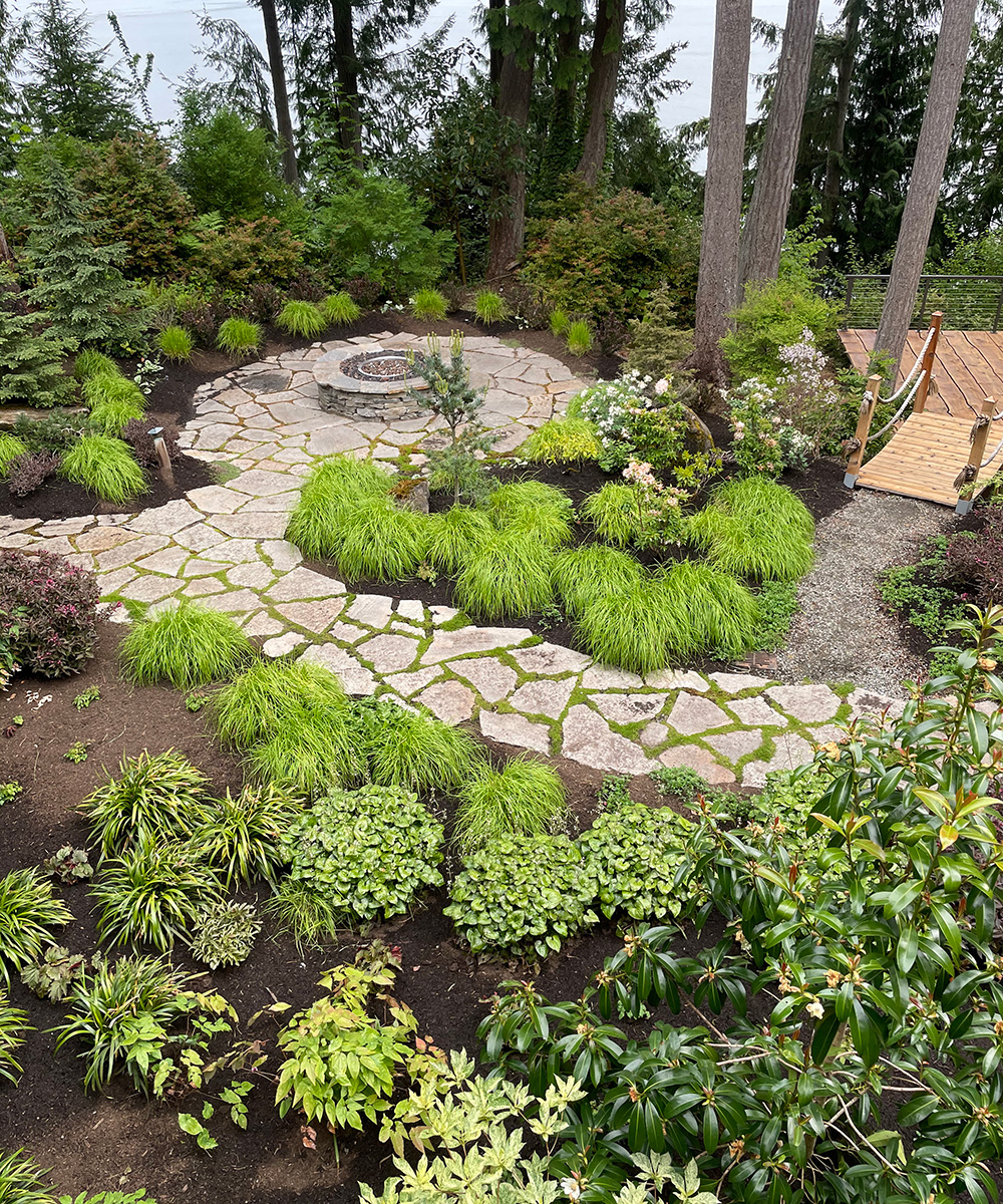garden path leading to firepit