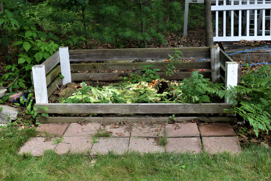 small compost pile
