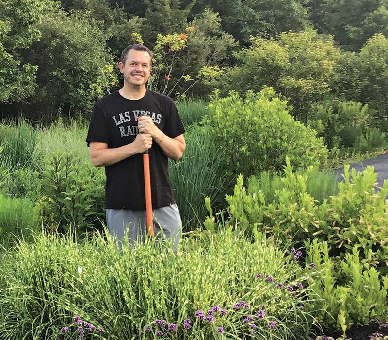 gardener in his garden
