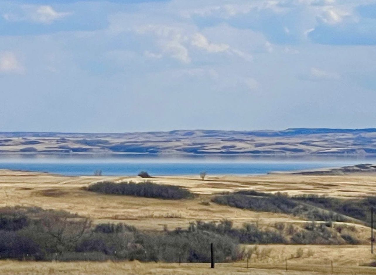 looking out on the plains of North Dakota
