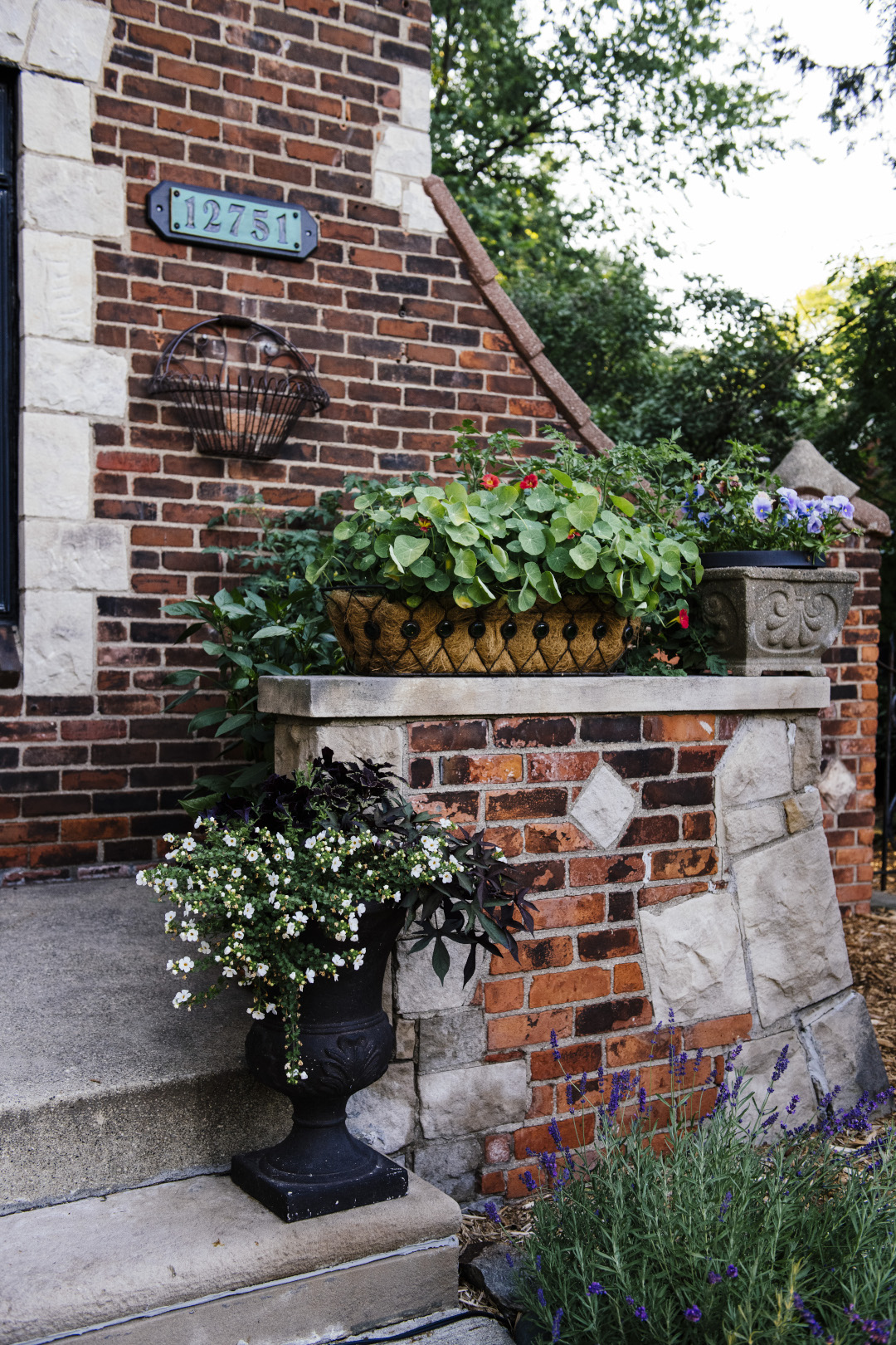 planter pots on front step