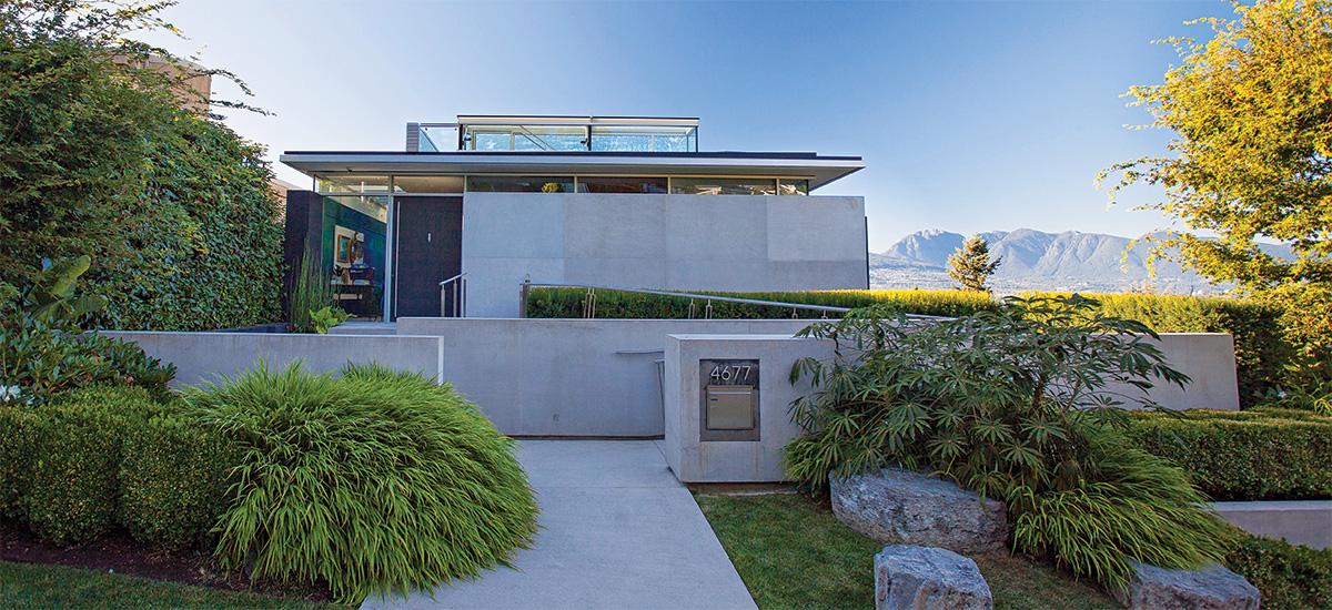modern home with foliage plants