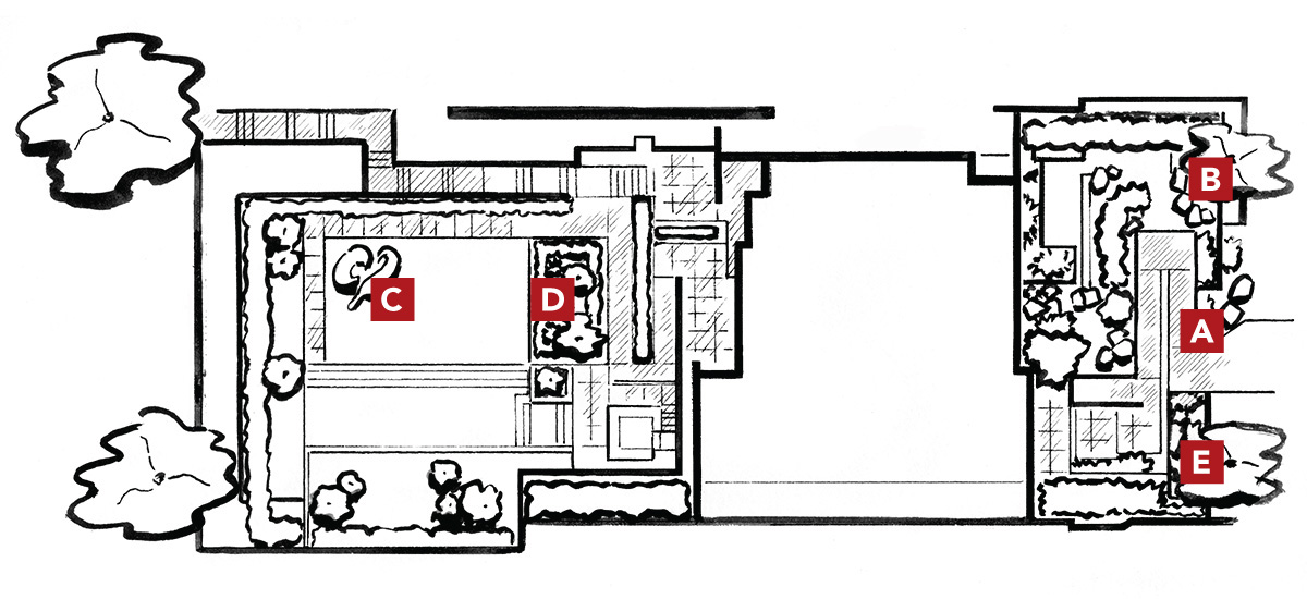 illustrated layout of modern space 1