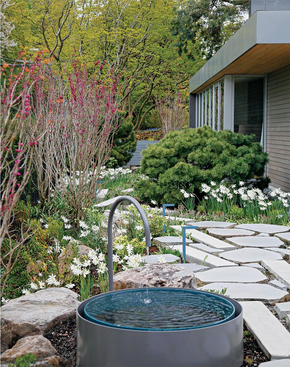 modern garden fountain