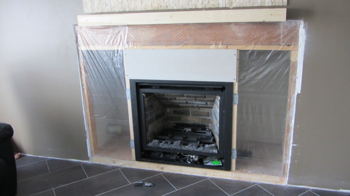 Gas Fireplace With Split Face Travertine Tiles Fine Homebuilding