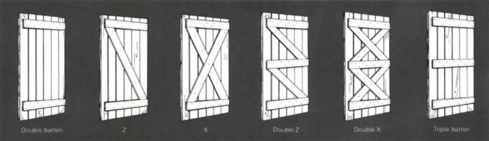 6 styles of batten doors