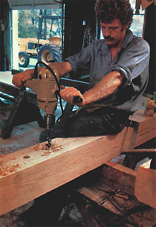 drilling a mortise