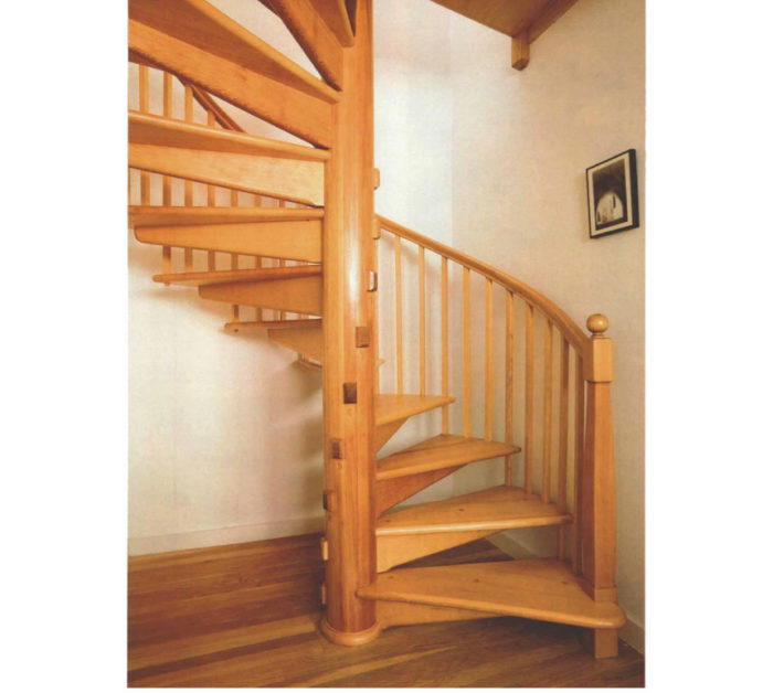 Synopsis: A Woodworker Describes Construction Of A Free Standing Spiral  Stair Made With A Coopered Central Post, Stair Treads That Slip Into  Mortises, ...