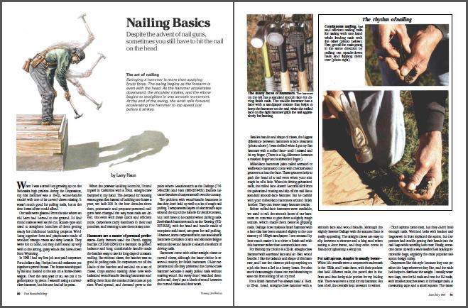 nailing basics magazine spread