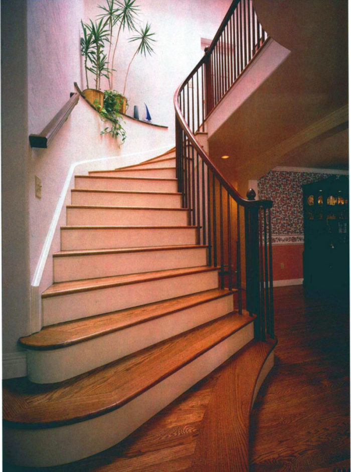 Synopsis: This Article Describes How To Build A Set Of Curved Stairs On  Site, With Straight Stair Stringers And A Curving Knee Wall Made From  Standard ...
