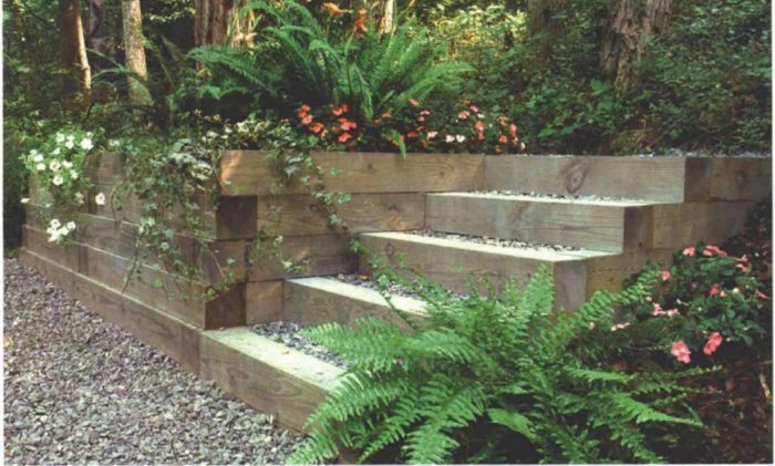 Building A Timber Retaining Wall Fine Homebuilding
