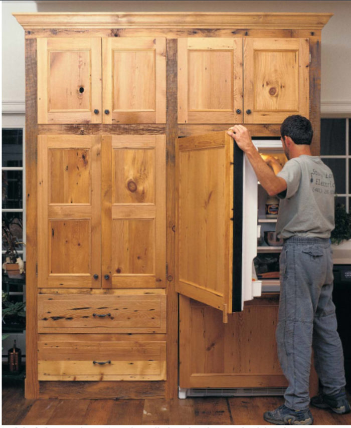 Synopsis: This Article Describes How To Attach Framed Wood Panels To A  Conventional Refrigerator Using Aluminum Channels, Giving It A Built In Look  At Far ...
