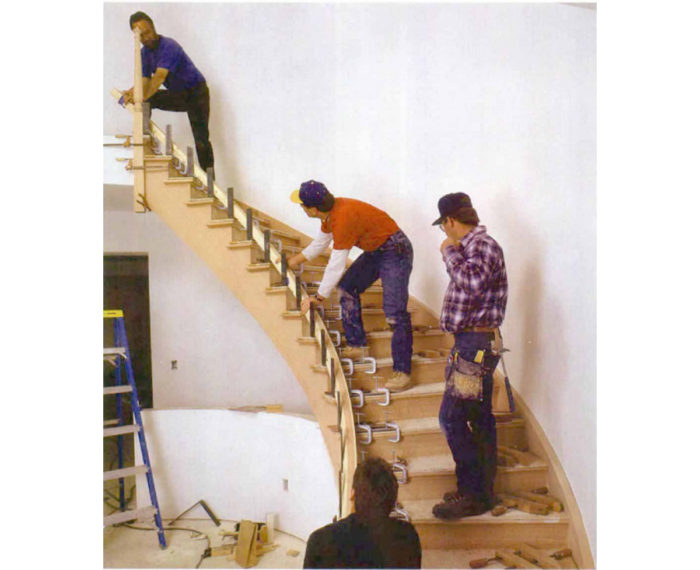 Synopsis: A Resourceful Finish Carpenter Explains How He Bends Thin  Laminations Into An Elegantly Curved Stair Rail At The Job Site. He Covers  Every Step Of ...