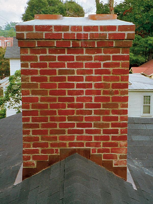 chimney with flashing