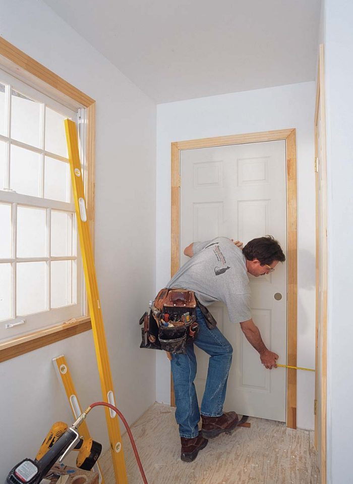 There's more to setting a door than plumb and level
