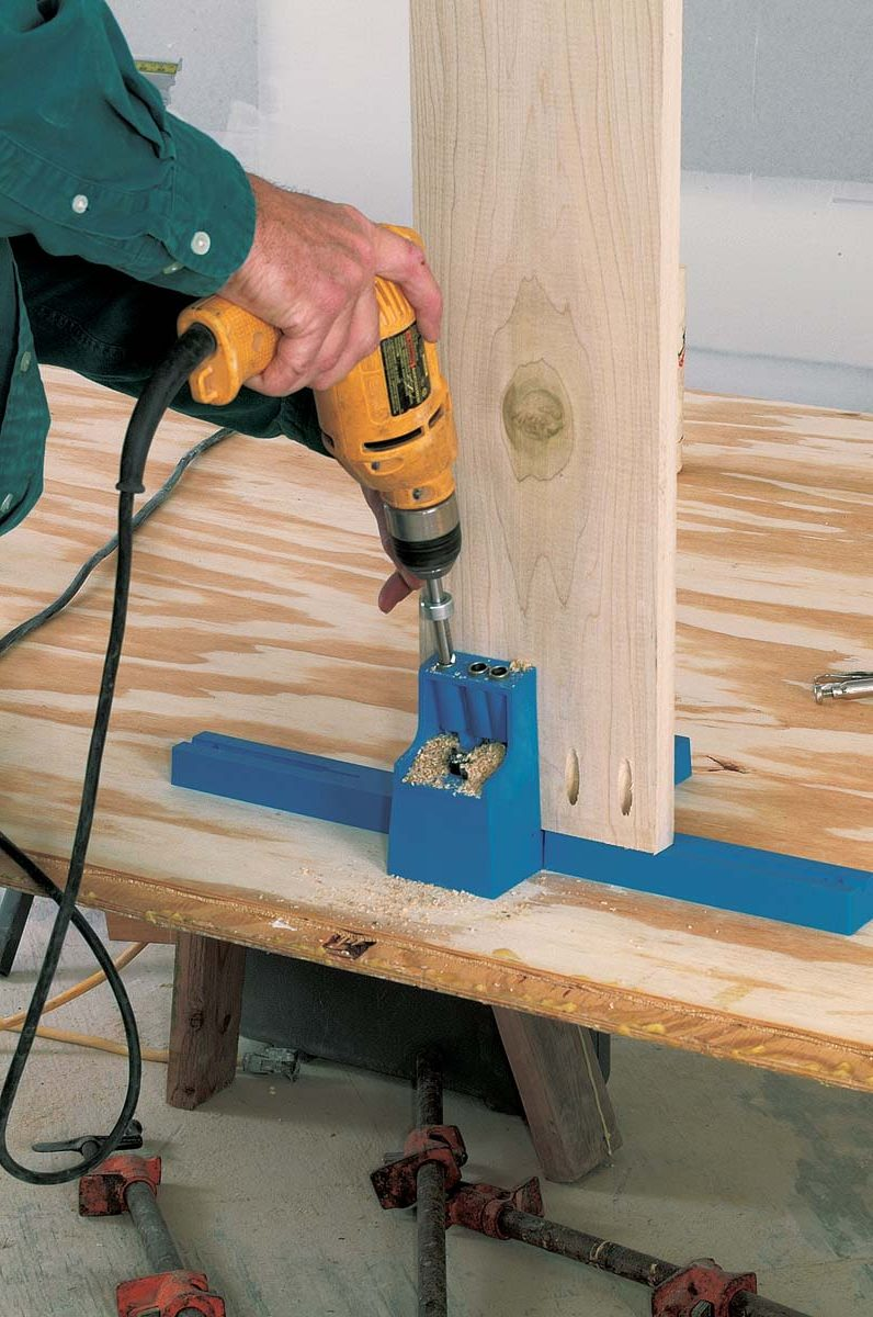 Pocket screws make sturdy frames
