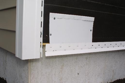 Pop rivets hangstarter strip fromcoil stock.
