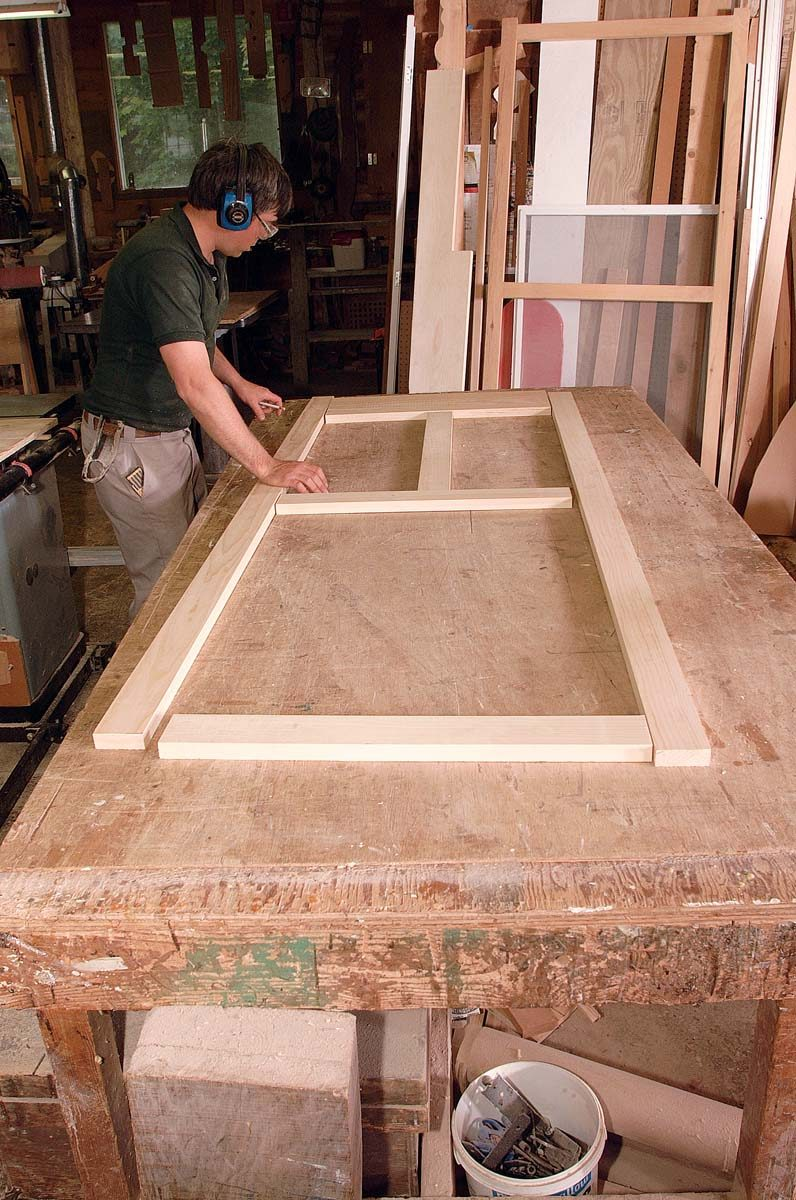Lay out the parts to mark the joints and dowel positions